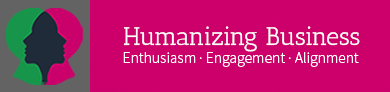 Humanizing Business Sticky Logo